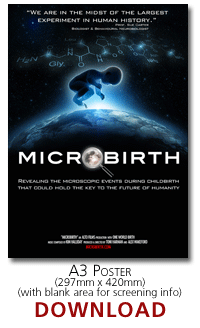 microbirth poster with space for screening info